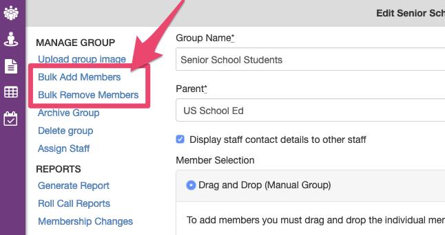 Bulk Add Members to manual Group or eForm